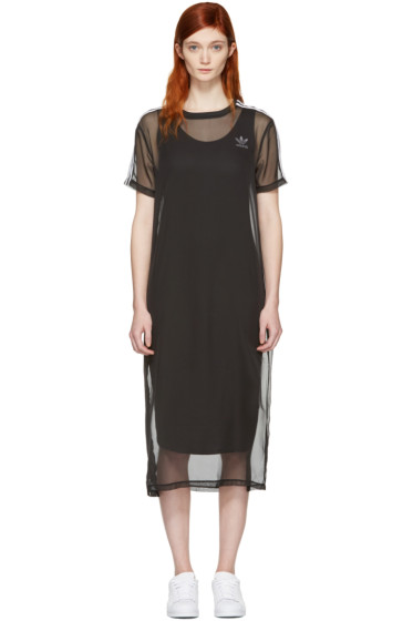 adidas Originals - Black Layered Mesh Dress