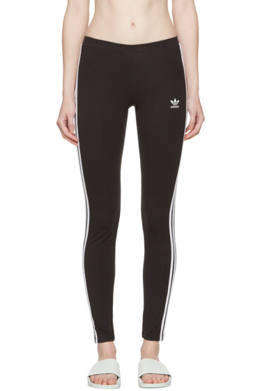 adidas Originals - Black Three-Stripes Leggings