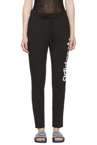 adidas Originals - Black Logo Track Pants