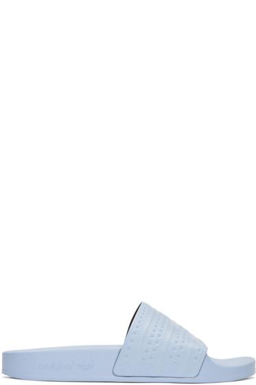 adidas Originals - Blue Adilette Slide Sandals