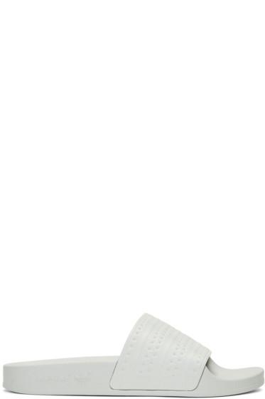 adidas Originals - Green Adilette Slide Sandals