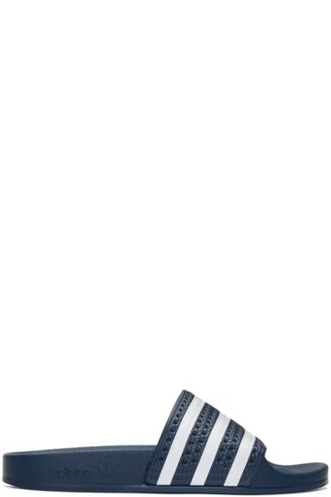 adidas Originals - Navy Adilette Slide Sandals