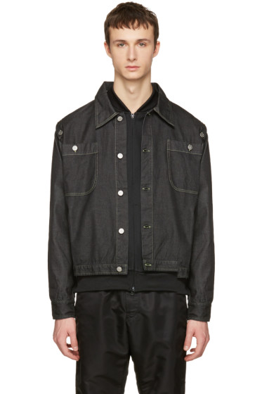 Telfar - Black Convertible Denim Jacket