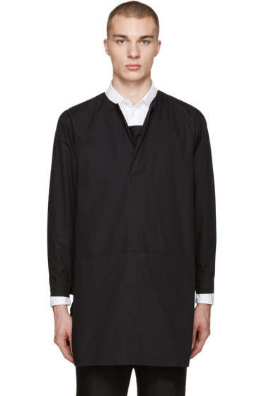 Phoebe English - Black Long Poplin Shirt