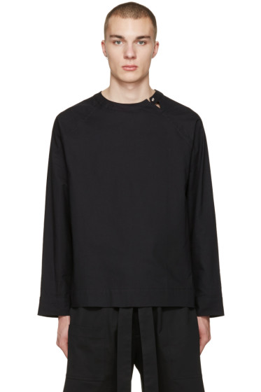 Phoebe English - Black Split Neck Shirt