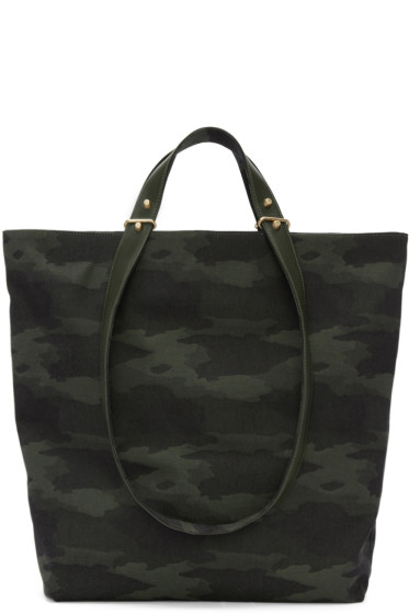 Haerfest - Green Jacquard Camouflage H6 Tote Bag
