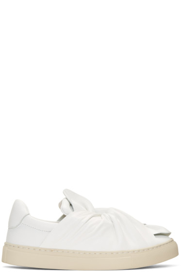 Ports 1961 - White Bow Slip-On Sneakers