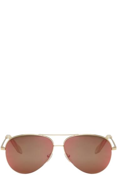Victoria Beckham - Gold Classic Victoria Aviator Sunglasses