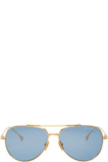 Dita - Gold 18k Flight 004 Aviator Sunglasses
