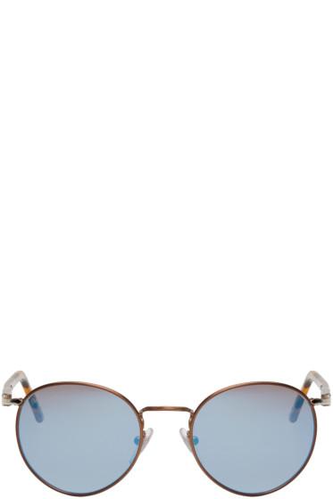 Persol - Brown Tortoiseshell Round Sunglasses