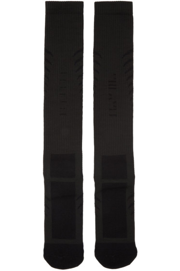 Unravel - Black Back Bone Socks