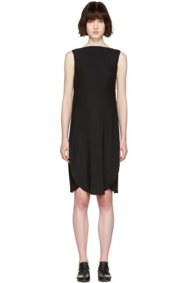 Issey Miyake - Black Pleated A-Line Dress
