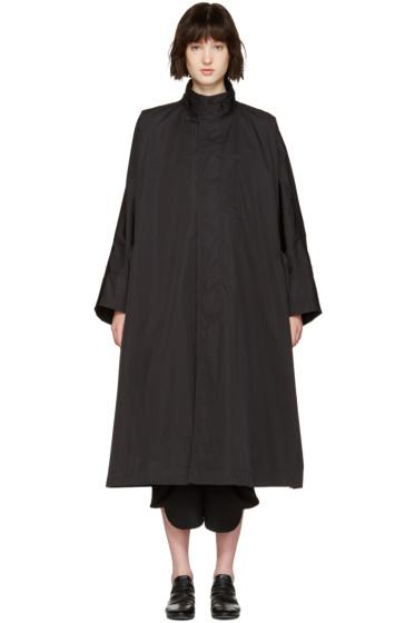 Issey Miyake - Black Oversized Trench Coat