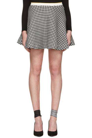 Miu Miu - Black & White Gingham Check Skirt