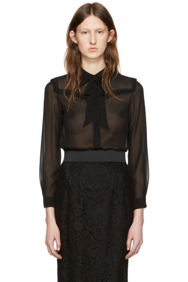 Miu Miu - Black Ruffle Shirt