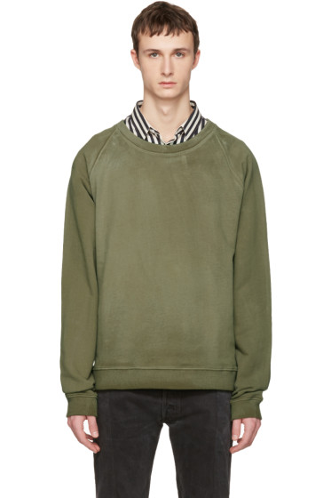Faith Connexion - Green Oversized Washed Pullover