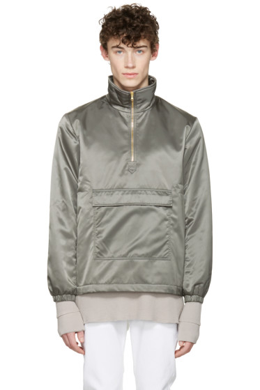 Aimé Leon Dore - SSENSE Exclusive Grey MA-1 Nylon Jacket