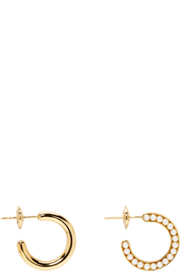 Melanie Georgacopoulos - Gold Essence Hoop Earrings