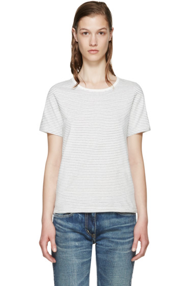 Visvim - White Border Striped T-Shirt