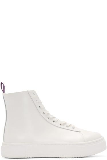 Eytys - White Kibo High-Top Sneakers