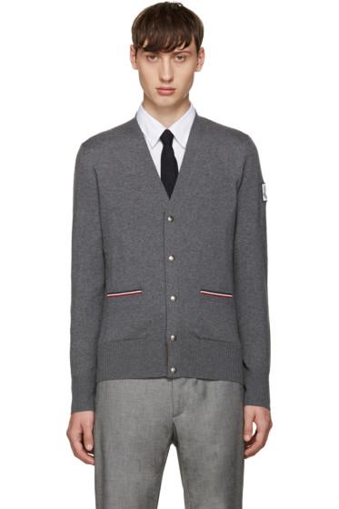 Moncler Gamme Bleu - Grey Double Pocket Cardigan