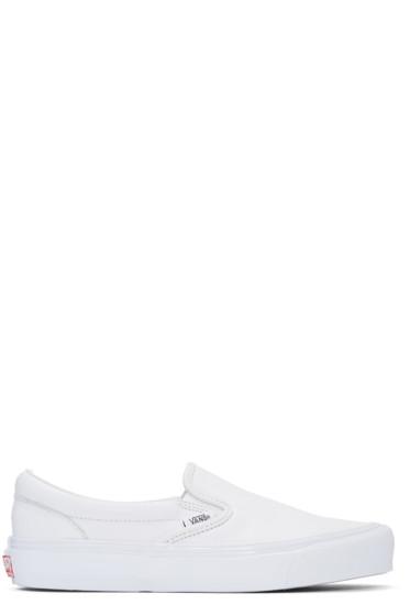 Vans - White OG Classic Slip-On Sneakers