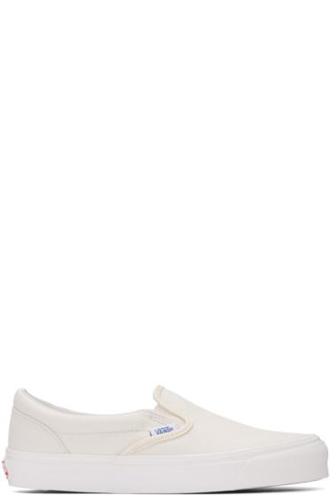Vans - Ivory OG Classic Slip-On Sneakers