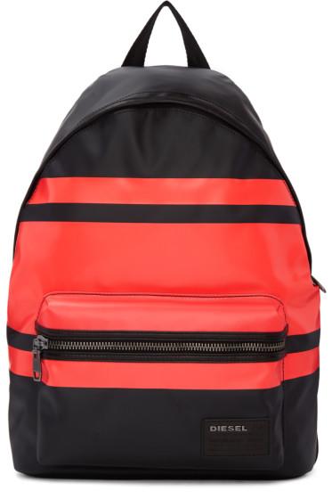 Diesel - Black & Red Iron Backpack