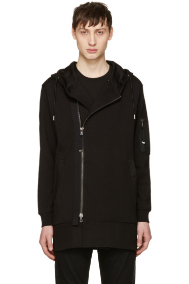 Diesel Black Gold - Black Zip Up Hoodie