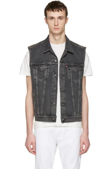 Levi's - Grey Denim Trucker Vest
