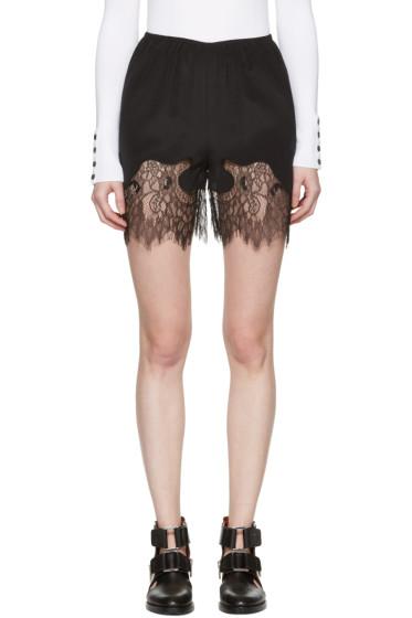 McQ Alexander Mcqueen - Black Fluid Lace Shorts