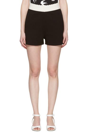 McQ Alexander Mcqueen - Black Scalloped Lounge Shorts