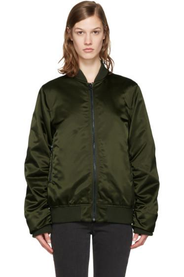 Acne Studios - Green Leia Bomber Jacket