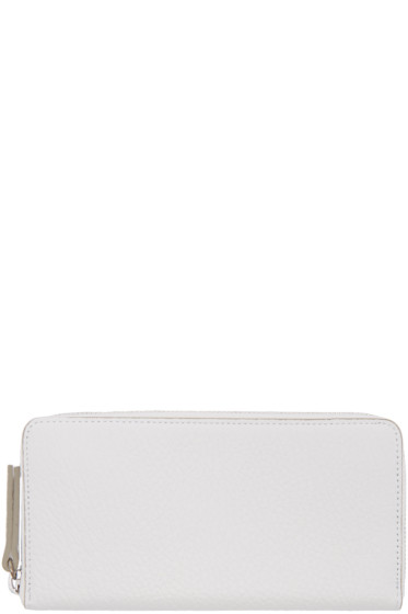 Maison Margiela - White Grained Leather Wallet