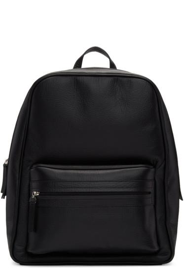 Maison Margiela - Black Leather Backpack