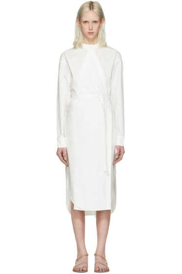 T by Alexander Wang - Ivory Waist Tie Shirt Dress
