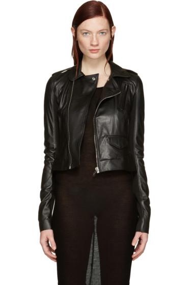 Rick Owens - Black Leather Classic Stooges Jacket