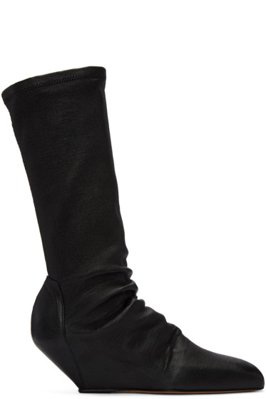 Rick Owens - Black Sock Sliver Boots