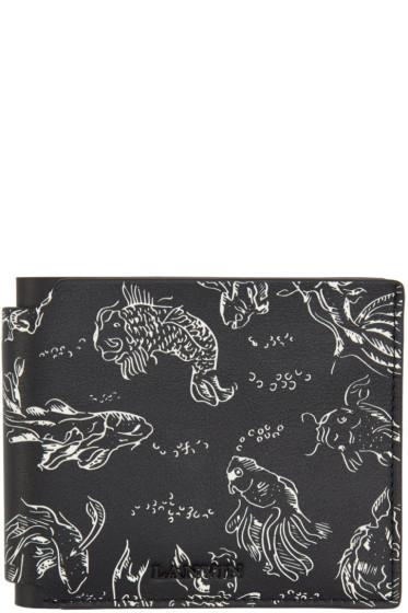 Lanvin - Black Koi Print Wallet