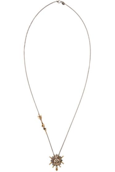 Alexander McQueen - Silver Medallion Pendant Necklace