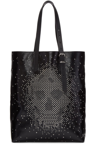 Alexander McQueen - Black Leather Studded Skull Tote