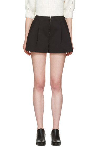 3.1 Phillip Lim - Black Tailored Bloomer Shorts