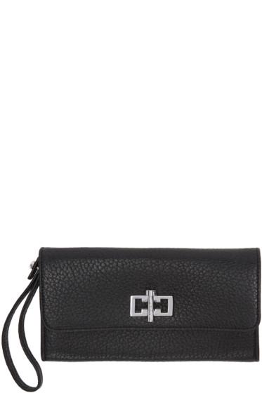 Carven - Black Leather Clasp Wallet