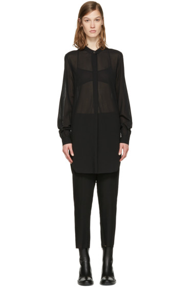 Ann Demeulemeester - Black Band Collar Shirt