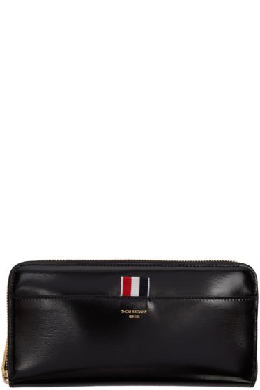 Thom Browne - Black Long Zip Around Wallet