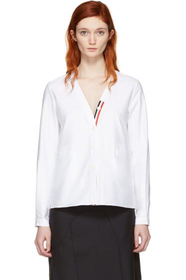 Thom Browne - White Cardigan Shirt