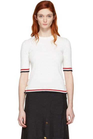 Thom Browne - White Open Stitch Pullover