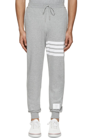 Thom Browne - Grey Classic Four Bar Lounge Pants