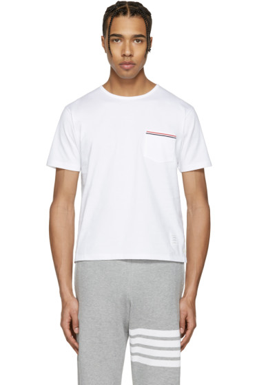 Thom Browne - White Pocket T-Shirt
