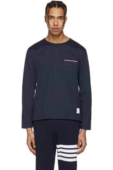 Thom Browne - Navy Pocket T-Shirt